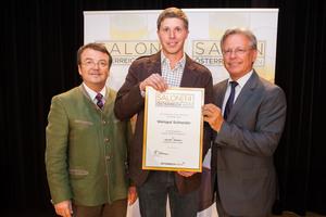 Weingut Schneider, links: Geschäftsführer ÖWM Willi Klinger, rechts: Direktor Casino Baden Edmund Gollubitz