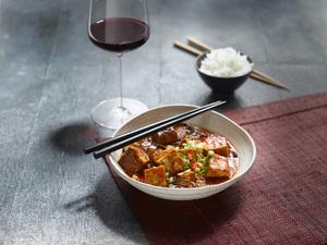 Mapo Tofu mit Rotwein