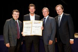 Weingut SKOFF ORIGINAL - Walter Skoff, links GF Willi Klinger, rechts Dir. Edmund Gollubits, Grand Casino Baden und Mag. Oliver Kitz, Casinos Austria