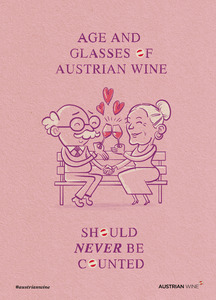 Age and glasses of Austrian wine