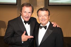 SALON 2017 Gala Dinner, Palais Niederösterreich, 13. Juni 2017 - v.l.n.r.: Manger Casinos Austria Oliver Kitz, Geschäftsführer ÖWM Willi Klinger