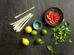 Zitrusfrüchte und Aromen