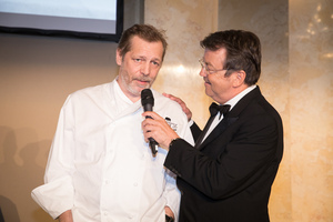 SALON 2017 Gala Dinner, Palais Niederösterreich, 13. Juni 2017 - v.l.n.r.: Koch Christian Petz, Geschäftsführer ÖWM Willi Klinger