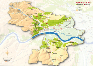 Topografische Karte Kremstal russisch