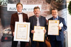 SALON 2019 Publikumsverkostung Wien, Palais Coburg, Siegerehrung der Top 3 in der Kategorie Sauvignon Blanc
