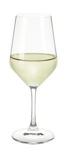Weißwein Glas Österreich Serie gefüllt