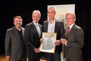 Weingut Hagn, links: Geschäftsführer ÖWM Willi Klinger & Landesrat Niederösterreich Karl Wilfing, rechts: Direktor Casino Baden Edmund Gollubitz