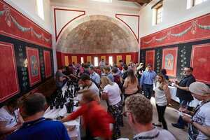 """Weingipfel 2015 - Guided tour through """"Archaeology Park Carnuntum"""" & Carnuntum Tasting of fine Zweigelt and Blaufränkisch in different categories, Presented by: Robert Payr and Dorli Muhr, Regional Wine Committee Carnuntum, Archaelogy Park Carnuntum, Petronell-Carnuntum"""