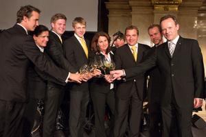 SALON Gala Dinner 2012 - Die Sommeliers des Abends und Gerhard Elze (rechts)