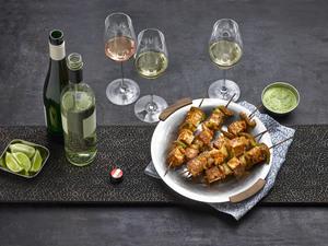Paneer Tikka mit Weißwein und Roséwein