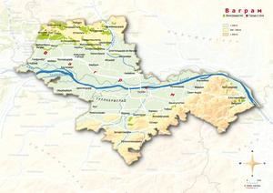 Topografische Karte Wagram russisch