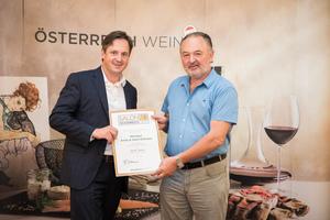 Weingut Anita & Hans Nittnaus, Präsident des österreichischen Weinbauverbandes NR Hannes Schmuckenschlager