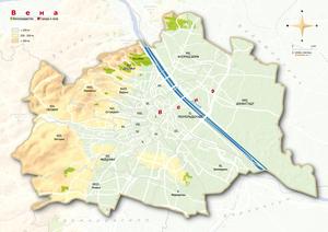 Topografische Karte Wien russisch