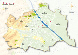 Topographical Map Vienna Russian
