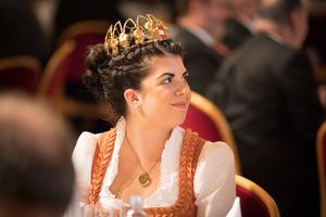 Weintaufe Österreich und Verleihung Bacchuspreis 2017 im Wiener Rathaus, Wien; Anna Reichardt (Bundesweinkönigin)