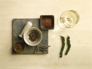 Pfeffer und Wein