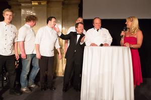 SALON Gala Dinner 2012 - Heinz Winkler & Team, Willi Klinger, Heinz Winkler, Birgit Perl