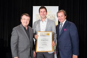 Weingut Pfeiffer, links: Geschäftsführer ÖWM Willi Klinger, rechts: Leiter Food & Beverage Casinos Austria Oliver Kitz