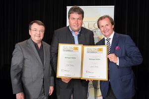 Weingut Müller, links: Geschäftsführer ÖWM Willi Klinger, rechts: Leiter Food & Beverage Casinos Austria Oliver Kitz