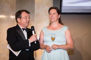 SALON 2017 Gala Dinner, Palais Niederösterreich, 13. Juni 2017 - v.l.n.r.: Geschäftsführer ÖWM Willi Klinger, Präsidentin des Österreichischen Sommelierverbandes Annemarie Foidl