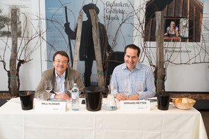 "Weingipfel 2017: Seated Tasting ""Great Wines of Südsteiermark – Sauvignon Blanc and Morillon – Vintage 2015""; Presented by: Gerhard Retter (Sommelier & Owner Fischerklause Lütjensee and Cordobar) and Willi Klinger (Managing Director of AWMB), Vinofaktur and Genussregal, Vogau"