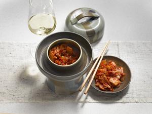 Kimchi und Weißwein