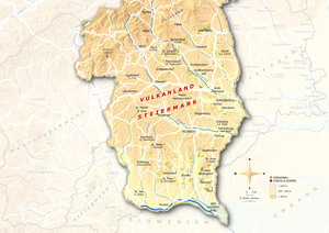 Topographical Map Vulkanland Steiermark