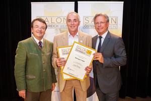 Weingut Hagn,  links: Geschäftsführer ÖWM Willi Klinger, rechts: Direktor Casino Baden Edmund Gollubitz