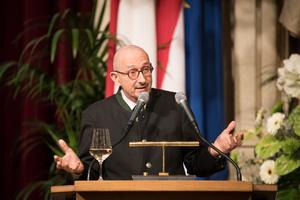 Weintaufe Österreich und Verleihung Bacchuspreis 2017 im Wiener Rathaus, Wien; Robert Steidl (Institutsleiter Weinbau/Kellerwirtschaft HBLA Klosterneuburg)