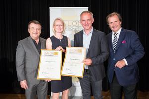 Weingut Hindler, links: Geschäftsführer ÖWM Willi Klinger, rechts: Leiter Food & Beverage Casinos Austria Oliver Kitz