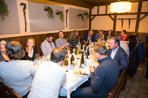 Weingipfel 2017: Dinner at a traditional wine tavern, Heuriger Christ, Jedlersdorf
