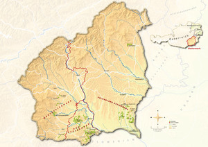 Topographical map Steiermark