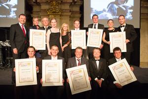 SALON Sieger 2012 - mit Minister Niki Berlakovich und Geschäftsführer der ÖWM Willi Klinger