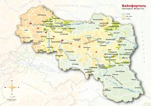 Topografische Karte Weinviertel russisch